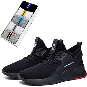 Giày thể thao nam, sneaker nam chất liệu vải kháng khuẩn khử mùi hôi, đế cao su siêu bền thời trang năng động - Tặng kèm 1 đôi tất cotton như trong hình
