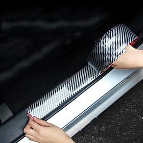 Nẹp carbon chống trầy xướt và trang trí xe hơi, xe ô tô bản 7cm dài 2,5m