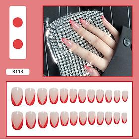 Bộ 24 móng tay giả nail thơi trang như hình (R-113)
