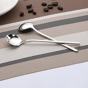 Spoon Small Stainless Steel Round Tea Coffee Spoon for Yogurt Ice Cream Dessert Long Handled Spoon Cutlery Kitchen