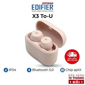 Tai nghe Bluetooth 5.0 EDIFIER X3 To-U Âm thanh Stereo - Chống nước IP55 - Hàng chính hãng - Bảo hành 12 tháng 1 đổi 1