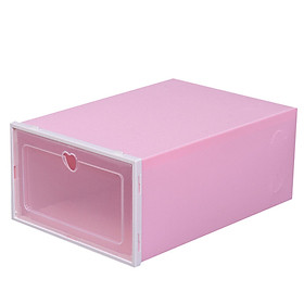 Thickened shoe box, transparent plastic clamshell shoe rack, space-saving dormitory storage artifact, household large