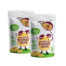 Combo 2 gói Sữa chua khô Kiwigarden vị Chanh Dây cho bé từ 7 tháng tuổi