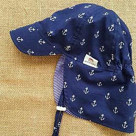 Mũ che gáy, mũ có gáy kiểu Nhật màu tím than. Mũ chống nắng, đi biển, đi dã ngoại cho bé từ 1-12 tuổi