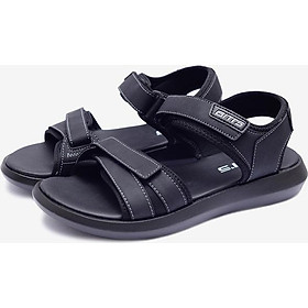Giày Sandal Si PU Nam Biti's DPM027400DEN - Đen