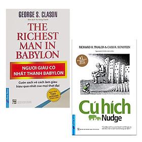 Combo 2 Cuốn Sách Kinh Tế Cực Hay: Người Giàu Có Nhất Thành Babylon (Tái Bản 2019) + Cú Hích (Tái Bản) / Sách Kỹ Năng Làm Việc - Bài Học Kinh Doanh (Tặng Kèm Bookmark Happy Life)