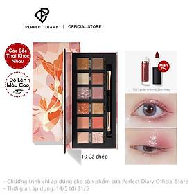 Bộ bảng phấn mắt + son môi Perfect Diary bền màu chống thấm nước (có bán lẻ)