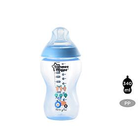 Bình sữa Tommee Tippee Closer to Nature PP 340ml (bình đơn) - Xanh Dương
