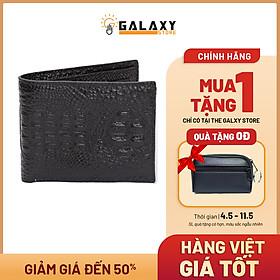 Ví Nam Bóp Nam Da Bò Dập Vân Cá Sấu Cao Cấp Galaxy Store GVN15 - Hàng Chính Hãng