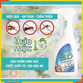 Bình xịt diệt côn trùng muỗi, kiến, gián,mối HT SYS - Thảo Mộc 10S - 500ml