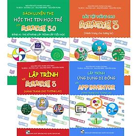 Combo Bộ 4 cuốn sách lập trình cho học sinh từ 6 - 18 tuổi