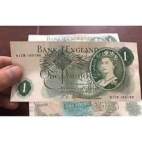 Tờ tiền cổ 1 Bảng Anh nữ hoàng Elizabeth II, sưu tầm