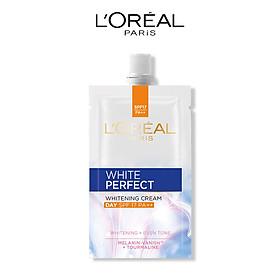 Kem dưỡng trắng da vitamin L'Oreal Paris White Perfect ban ngày SPF17 PA++ dạng gói