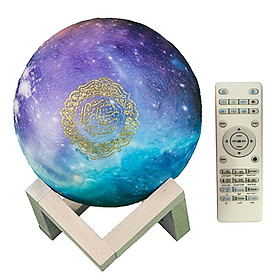 16 Colors 3D Moon Lamp Quran Moonlight Colorful Touch USB Charging Lamp