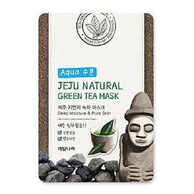 Mặt nạ thảo dược trà xanh (combo 10 miếng ) Hàn Quốc Welcos jeju natural green tea mask 20ml