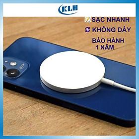 Đế sạc nhanh không dây iphone 12, sạt từ tính cho iphone chuẩn Apple MFI chân type c KLH