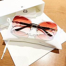 Mắt kính thời trang nữ cao cấp , Siêu phẩm dành cho giới trẻ - Kính thời trang nữ chống tia UV tròng đính ngọc trai sang chảnh BD998