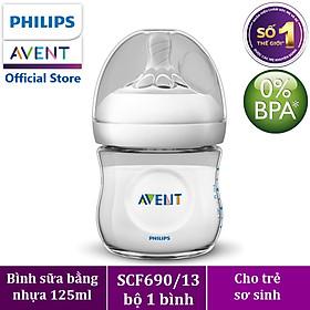 Bình sữa mô phỏng tự nhiên hiệu Philips Avent (125 ml - đơn) cho trẻ từ 0 tháng tuổi 690.13