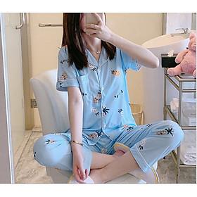 Bộ đồ pijama áo ngắn tay quần dài dễ thương