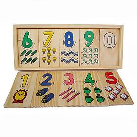 Đồ chơi gỗ Khớp số và lượng từ 0 đến 9 - TotdepreHG2025