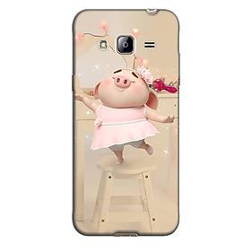 Ốp lưng nhựa cứng nhám dành cho Samsung Galaxy J3 2016 in hình Heo Nhảy Múa