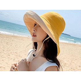 Nón chống nắng nữ rộng vành đội 2 mặt thời trang, mũ rộng vành nữ phong cách Hàn