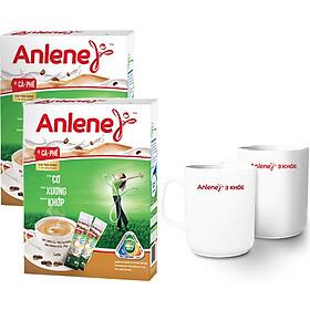 Combo 2 Sữa Bột Anlene Cà Phê Hộp 310g - Tặng 2 ly sứ