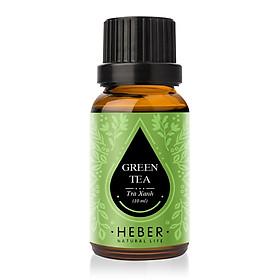 Tinh Dầu Trà Xanh Green Tea Essential Oil Heber | 100% Thiên Nhiên Nguyên Chất Cao Cấp