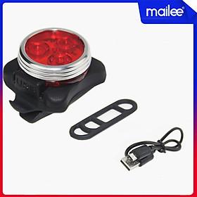 Đèn Hậu Xe Đạp 3 Bóng Đèn Sau Xe Đạp Giúp Cảnh Báo Đạp Xe/Chạy Bộ Ban Đêm Sạc USB Mai Lee