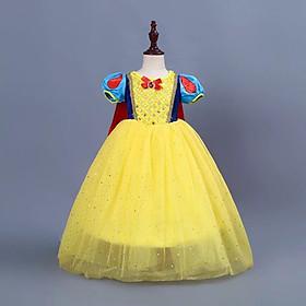 Đầm Công Chúa Bạch Tuyết Kèm Áo Choàng