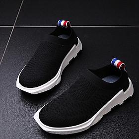 Giày lười siêu nhẹ cho bé G83 đen