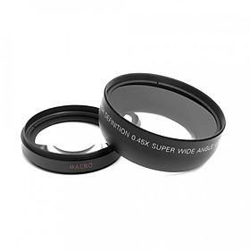 Lens HD 0.45x Ống Kính Cho Máy Ảnh Canon Nikon Sony Pentax (52mm)