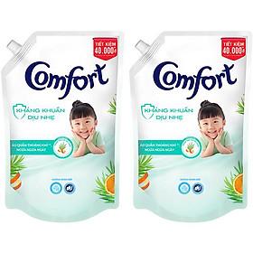 Combo 2 Nước xả vải em bé Comfort Kháng Khuẩn Dịu Nhẹ Túi 1.5L