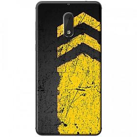 Hình đại diện sản phẩm Ốp lưng dành cho Nokia 6 mẫu Sọc vàng nền đen