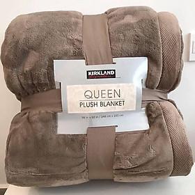 Chăn lông cừu KirkLand Plush Blanket Queen 248 x 233cm của Mỹ - Mẫu mới