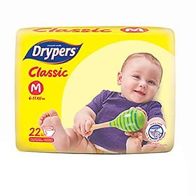 Tã Dán Drypers Classic Gói Trung M22 (22 Miếng)