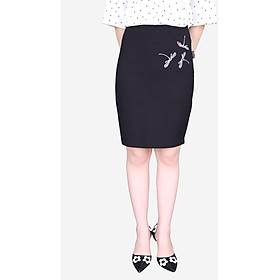 Chân váy 2 lớp chất gạo dáng ôm thuê chuồn chuồn VDS2721DE