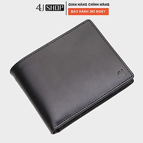 Bóp ví nam da bò thật 4U cao cấp dáng ngang, nhiều ngăn đựng tiền và thẻ FA162