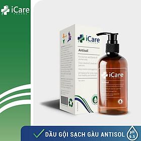 Dầu Gội Sạch Gàu Antisol pH6.5 Chiết Xuất Dược Liệu Ngăn Ngừa Gàu, Rụng Tóc, Ngứa Da Đầu Tái Phát - Chai 240ml - Thương Hiệu iCare Pharma