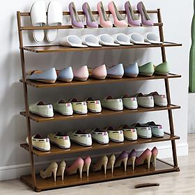 Giá kệ để giày dép bằng gỗ tre 5 tầng - tủ đựng giầy trong nhà