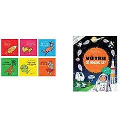Combo 2 cuốn sách: Vũ trụ có những gì   + Thư viện song ngữ đầu tiên cho bé 0 đến 3 tuổi