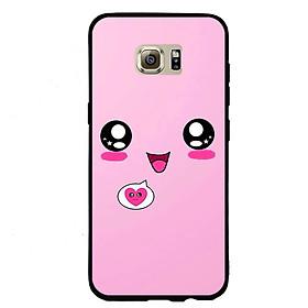 Ốp lưng viền TPU cho điện thoại Samsung Galaxy S7 Edge - Pig 07