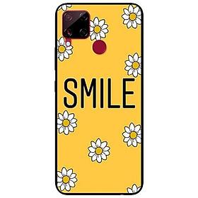 Ốp lưng dành cho Realme C15 mẫu Smile Hoa