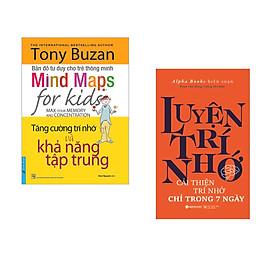 Combo 2 cuốn sách: Tony Buzan - Tăng Cường Trí Nhớ Và Khả Năng Tập Trung + Luyện Trí Nhớ
