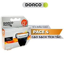 Vỉ 04 Đầu Cạo Râu 4 Lưỡi Dorco Pace 4 FRA 1040-4B