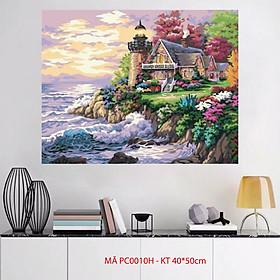Tranh sơn dầu số hoá tự tô treo tường Mã PC0010H Giấc mơ bên biển
