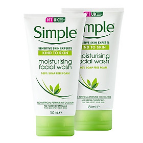 Bộ 2 tuýp sữa rửa mặt Simple Refreshing Facial Wash 150ml/tuýp