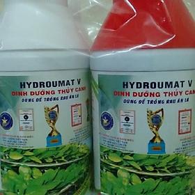 Combo 2 Chai Dung Dịch Thủy Canh Cho Rau Ăn Lá Hydroumat V Group A và Group B (500ml / Chai)