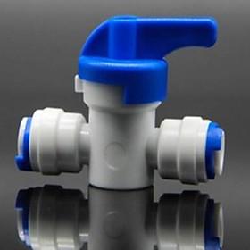 Van khóa chia ống nước RO 6mm lắp dàn tưới cây, bể thủy sinh, cá cảnh, bán cạn