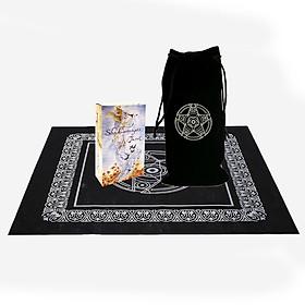 Combo Bài Bói Tarot Shadowscapes Cao Cấp Loại Đẹp và Túi Nhung Đựng Tarot và Khăn Trải Bàn Tarot